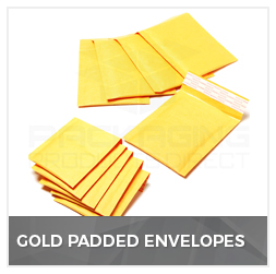 Gold Padded Envelopes